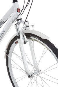 Schwinn Discover Hybrid Bikes for Men and Women Suspension